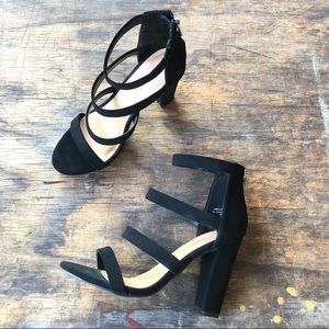 NEW. Bamboo Limelight Strappy Heel.